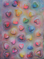 Love is in the Air - 80 x 60 - mixed media on canvas