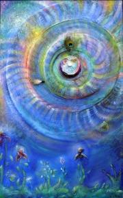 Diana Anderegg - Der Schamane 3  70 x 120