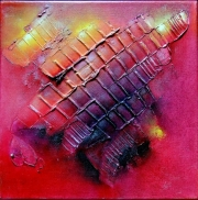 Diana Anderegg - Magma - oil on canvas - 30 x30
