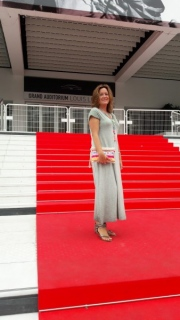 Diana at the red carpet in Cannes