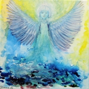 Diana Anderegg - Blue Angel 20 x 20